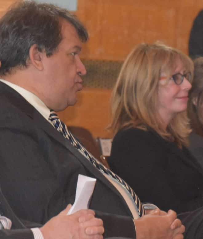 State Senator George Latimer and Judge Susan Kettner at an event together in New Rochelle