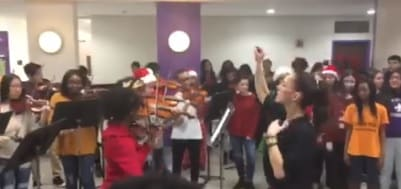 New Rochelle High School Chorale and Symphonic Orchestra Performed the Hallelujah Chorus