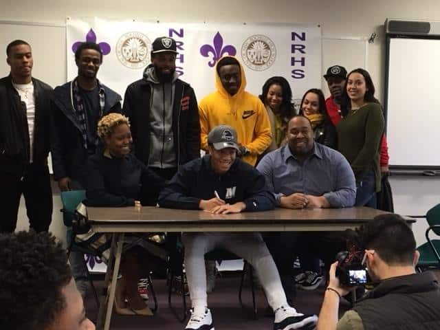 Congratulations to Romeo Holden signed his Letter of Intent this Week